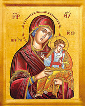 Icon of the Mediatress - 20th c. St. Anthony's Monastery - (12G46)
