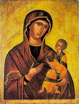 Icon of the Directress - 15th c. Cretan - (12G01)