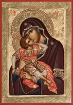 Icon of the Sweet Kissing (Glykophilousa) - 20th c. - (12G02)