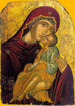 Icon of the Panagia of Tenderness - 16th c. Cretan - (12G03)
