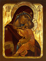Icon of the Theotokos with Child - 20th c. Ellwood City - (12G58)