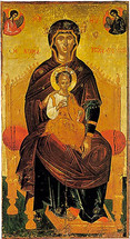 Icon of the Lady of the Angels - 16th c. Cretan - (12H02)