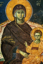 Icon of the Panagia - 14th c. Panselinos - (12G07)
