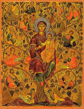 Icon of the Root of Jesse - 16th c. Michael Damaskinos - (12I03)