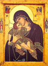 Icon of the Sweet Kissing (Glykophilousa) - 20th c. (12G31)