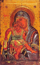 Icon of the Axion Esti - 12th c. Karyes Mt. Athos - (12G33)