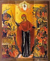 Icon of the Joy of All Who Sorrow - 18th c. Palekh School - (12I08)