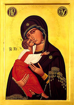 Icon of the Vladimirskaya - 20th c. (12G15)