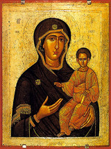 "Icon of the Theotokos ""Mother of All Christians"" - 16th c. Cretan - (12G17)"