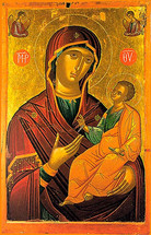 Icon of the Directress - 15th c. Cretan - (12G20)