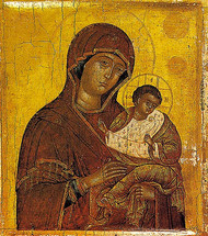 Icon of the Theotokos Golubitskaya - 16th c. Russian - (12G24)