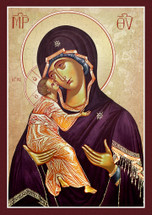 Icon of the Sweet Kissing (Glykophilousa) - 20th c. St. Anthony's Monastery - (12G14)