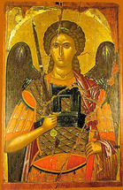 Icon of the Archangel Michael - 16th c. Cretan - (1MI12)