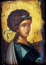 Icon of the Archangel Gabriel - 20th c. Cretan - (1GA13)