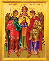 Icon of the Synaxis of the Archangels - 20th c. - (1AN24)