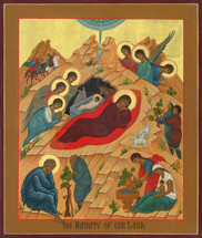 Icon of the Nativity of the Lord (Christmas) - (11A09)
