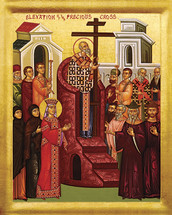 Icon of the Exaltation (Elevation) of the Precious Cross - 20th c. - (11Z10)