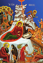 Icon of the Nativity of the Lord (Christmas) - 20th c. - (11A04)
