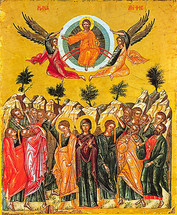 Icon of the Ascension - 17th c. Dionysiou Monastery - (11M03)