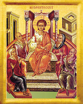Icon of Mid-Pentecost - 20th c. - (11L30)