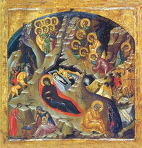 Icon of the Nativity of the Lord (Christmas) - 15th c. - (11A08)