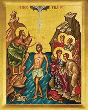 Icon of the Baptism of the Lord (Theophany) - 20th c. - (11C02)