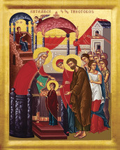 Icon of the Presentation (Entrance) of the Theotokos in the Temple - 20th c. - (12C02)