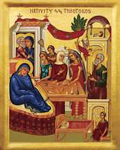 Icon of the Nativity of the Theotokos - 20th c. - (12B03)