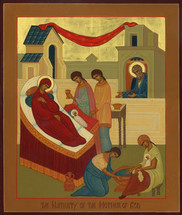 Icon of the Nativity of the Theotokos - (12B06)