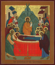 Icon of the Dormition of the Theotokos - (12E08)