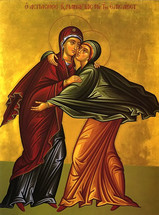 Icon of The Visitation of the Theotokos and St. Elizabeth - (12F09)