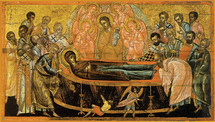 Icon of the Dormition of the Theotokos - 16th c. Cretan - (12E02)