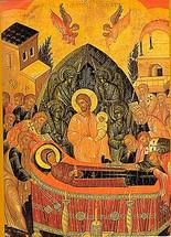 Icon of the Dormition of the Theotokos - 16th c. Cretan - (12E01)