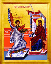 Icon of the Annunciation - 21st c. - English - (12D08)