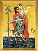 Icon of St. Christopher - 20th c. - (1CH11)