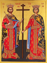 Icon of Sts. Constantine and Helen - 20th c. St. Anthony's Monastery - (1CH41)
