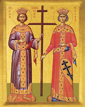 Icon of Sts. Constantine and Helen - 20th. - (1CH40)