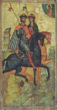 Icon of Sts. Boris and Gleb - 14th c. Novgorod - (1BG10)