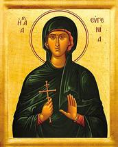 Icon of St. Eugenia - 20th c. - (1EU20)