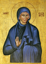 Icon of St. Elizabeth the mother of John the Baptist - 20th c. - (1EL11)