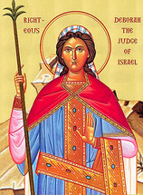 Icon of St. Deborah the Judge of Israel - English - (1DE05)