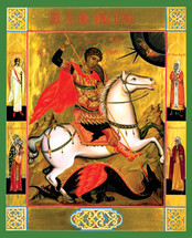 Icon of St. George - 20th c. Tikhomirov - (1GE25)