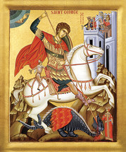 Icon of St. George - 20th c. St. Anthony's Monastery - (1GE26)