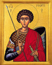 Icon of St. George - 20th c. - (1GE22)