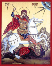 Icon of St. George - 20th c. St. Anthony's Monastery - (1GE20)