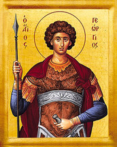 Icon of St. George the Trophy-Bearer - (1GE28)