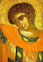 Icon of St. George (detail) - 17th c. Cretan - (1GE14)