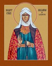 Icon of St. Juliana of Lazarevo - 20th c. - (1JZ10)