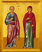 Icon of Ss. Joachim & Anna, standing - (1JA91)