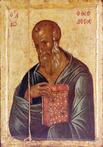 Icon of St. John Theologian - 14th c. Hilandar Monastery - (1JT08)